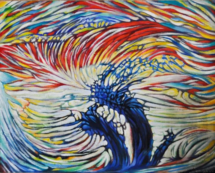 Le souffle de la vie - 40 x 32 in – acrylic & oil