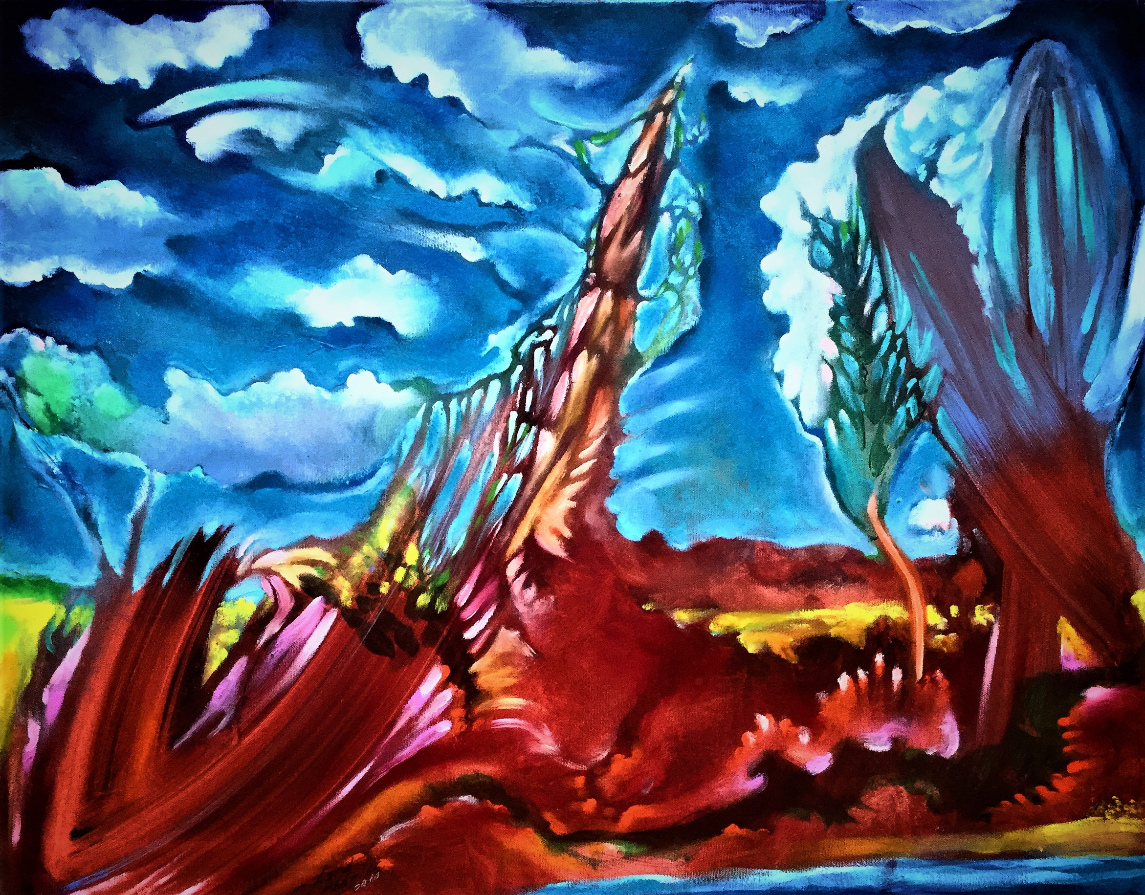 Second-Wind-Oil-and-acrylic-on-canvas-28-in-x-22-in