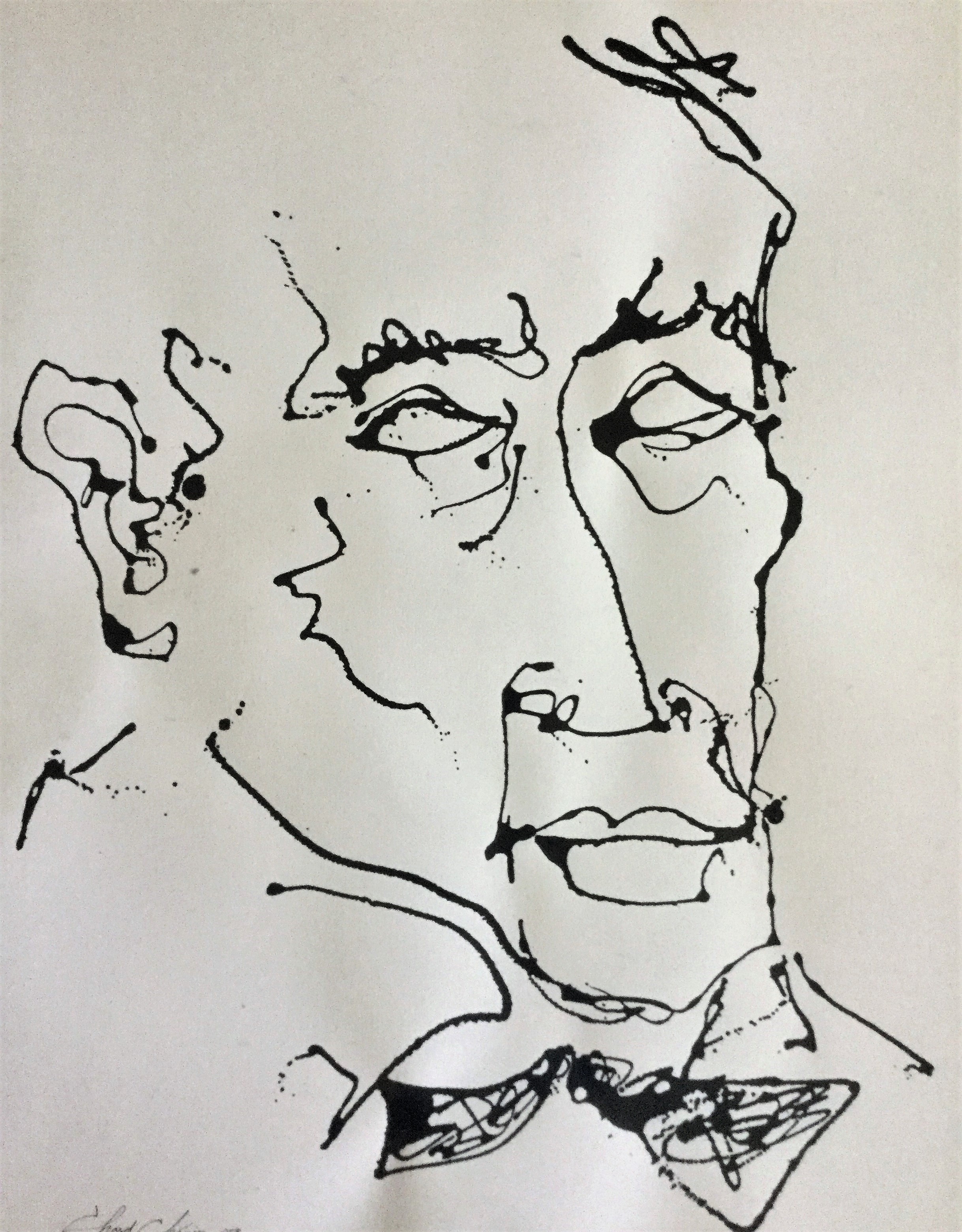 17_Leadbelly - ink on papier d'arche (22 in x 28 in)