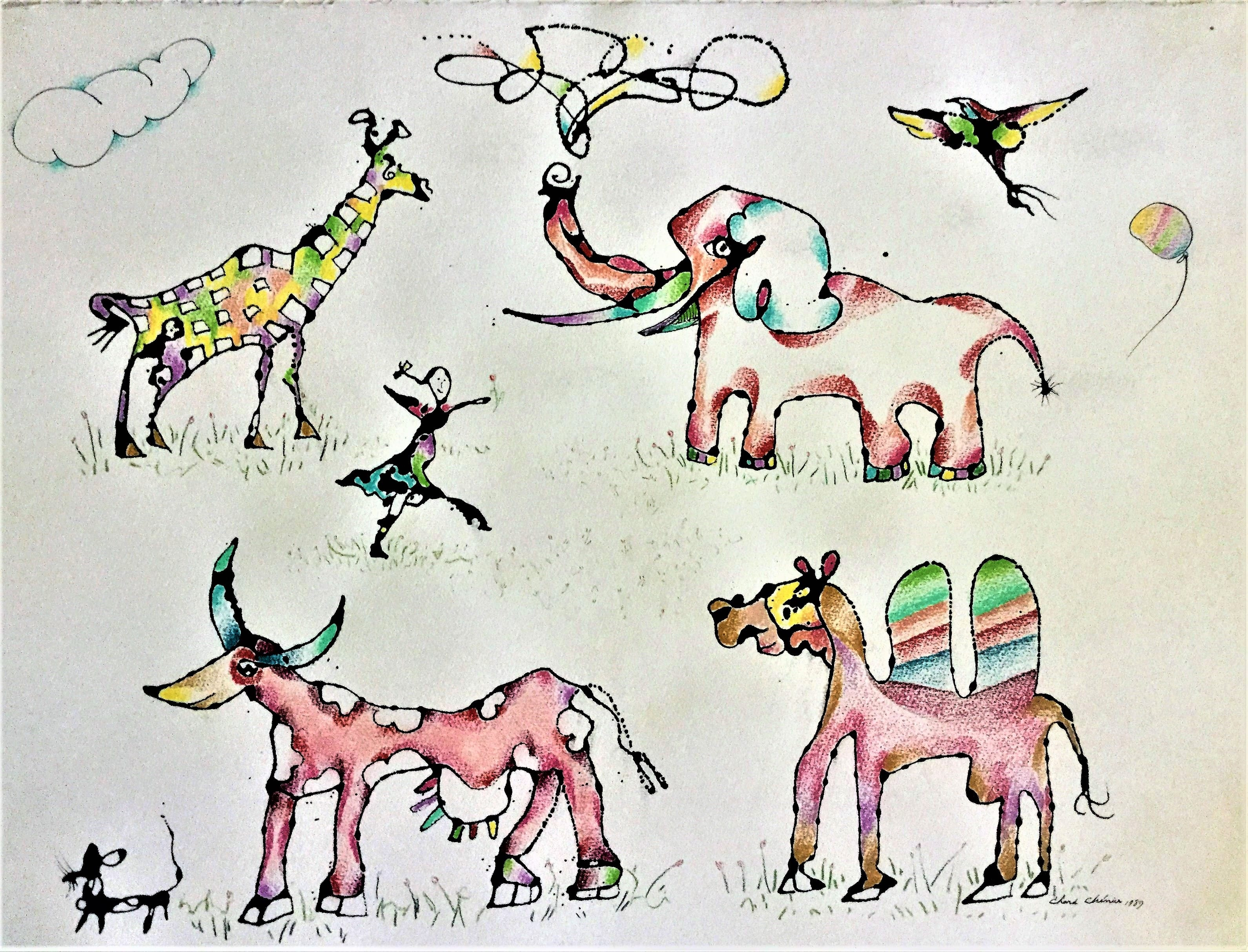 18_Aminals - ink and pencil (22 in x 30 in)