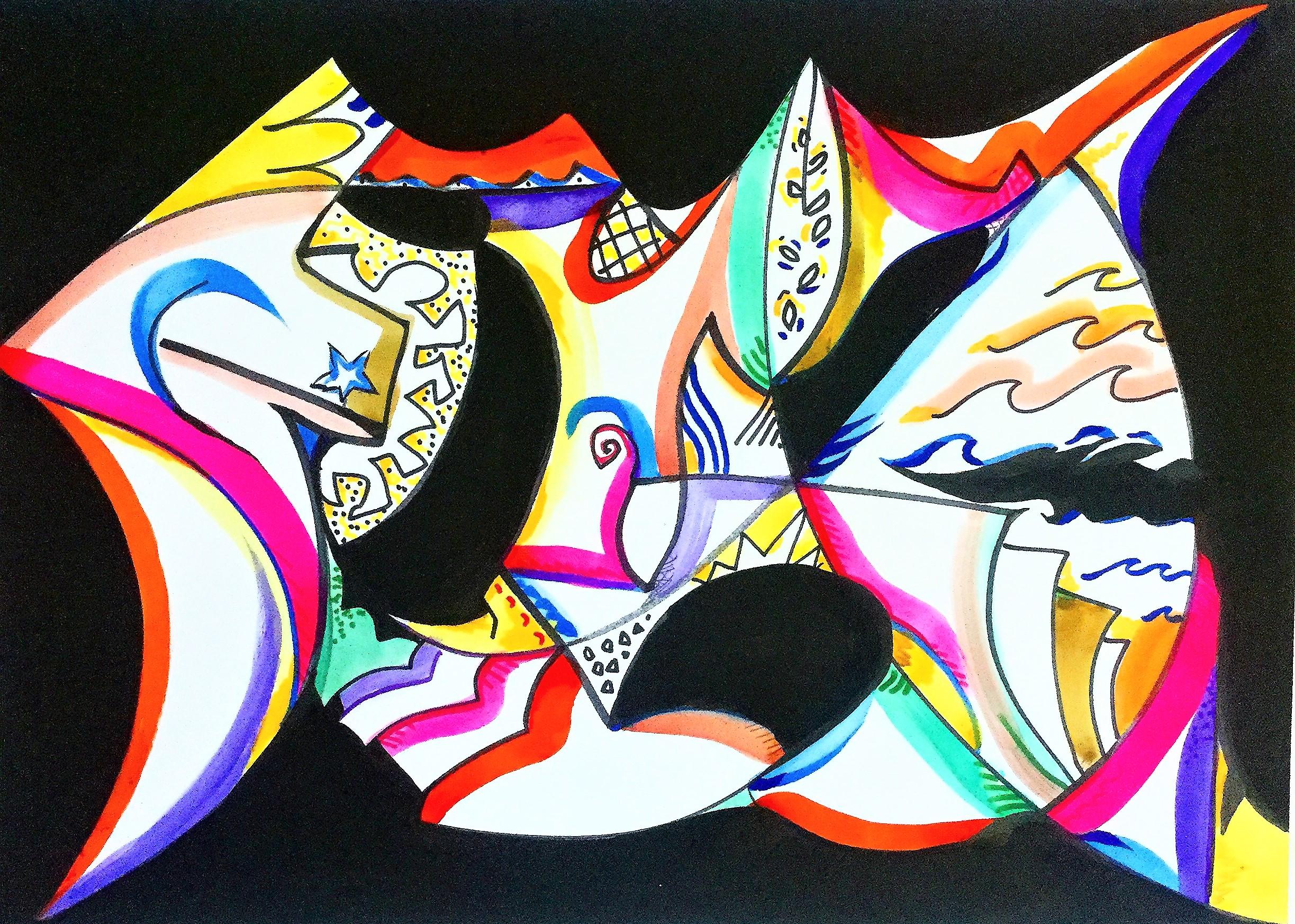 2_Revolutionare - ink on paper - 29 in x 23 in