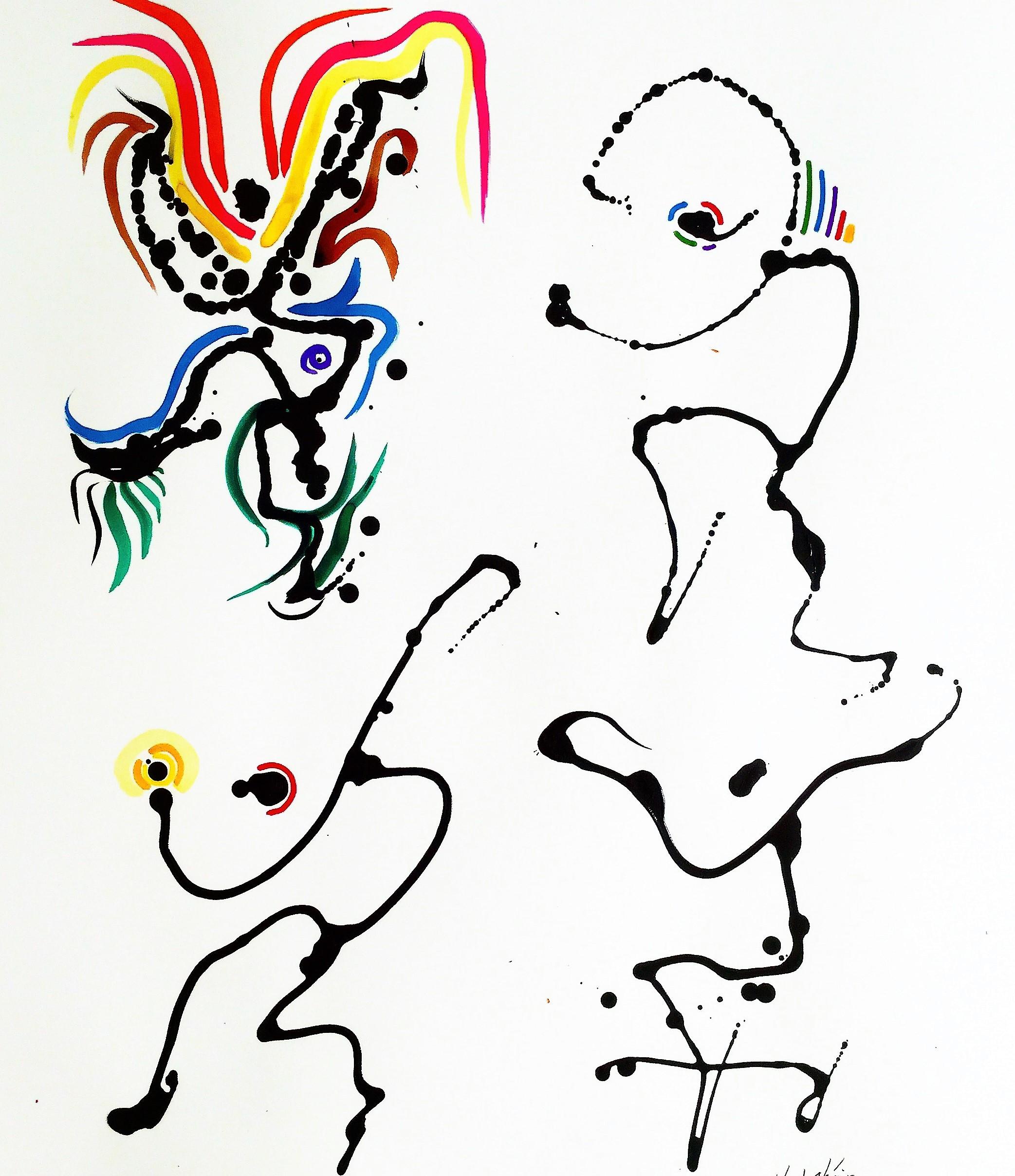 5_Dancers - ink callidroptik - 23 in x 29 in