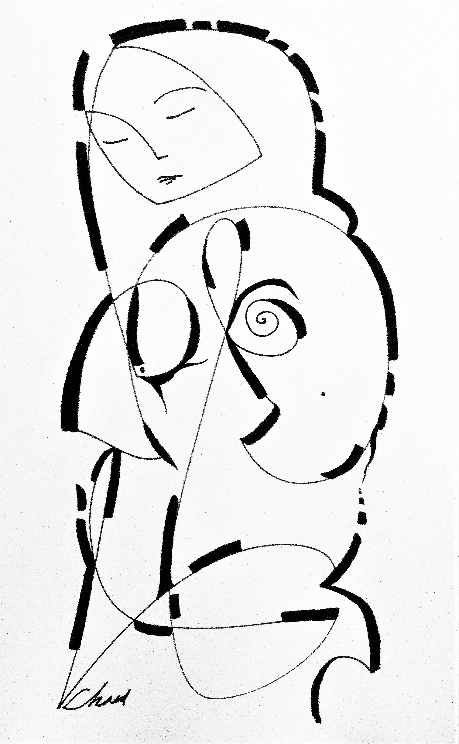 8_Amour - ink paperwork - 23 in x 29 in