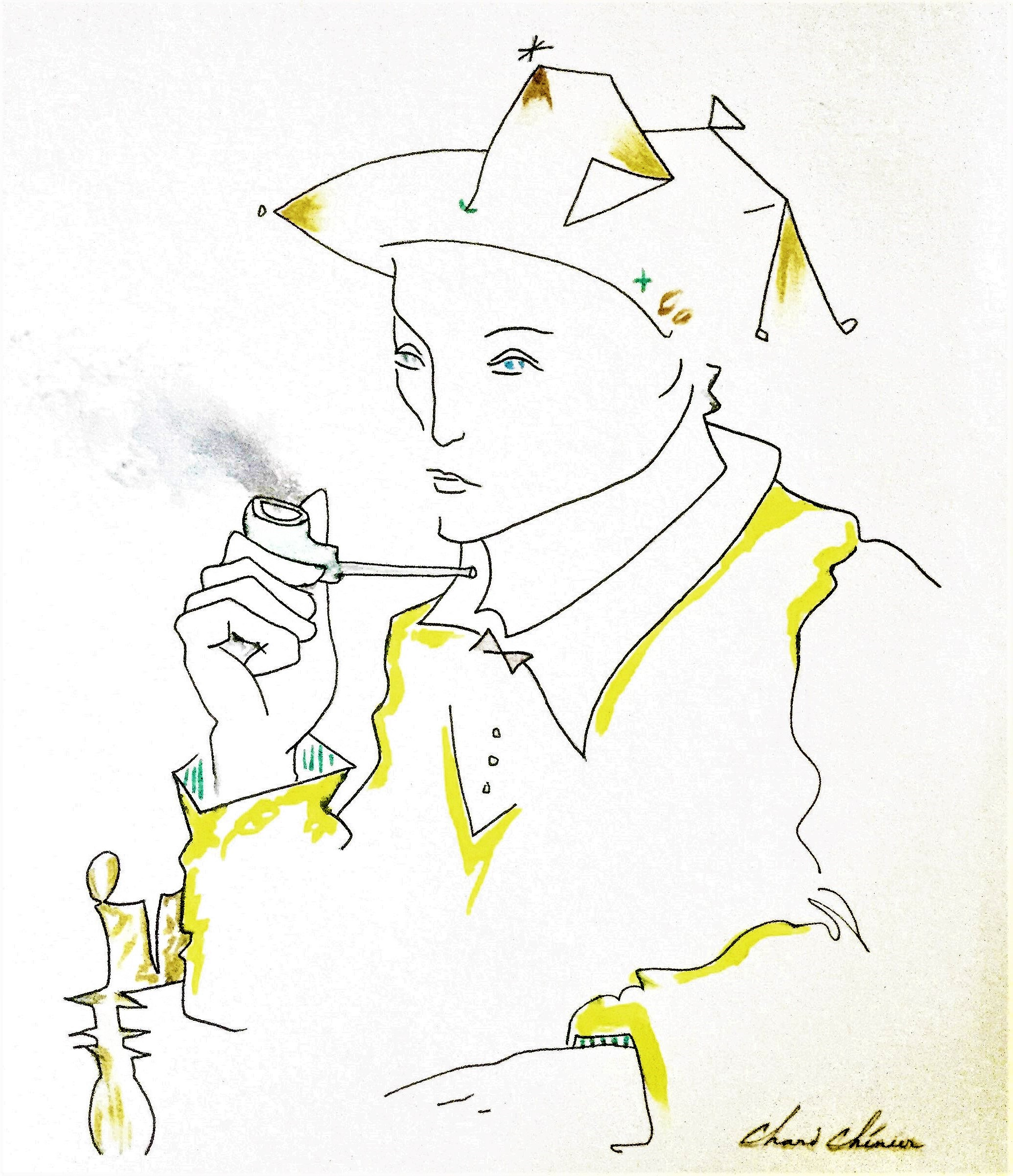 Harlequin-Ink-drawing-12-in-x-13-in