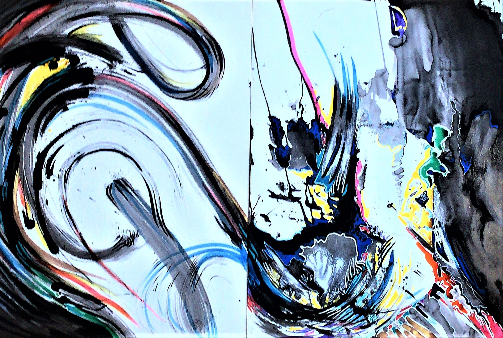 Taoscape-diptych-Ink-paperwork-46-in-x-28-in