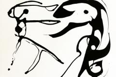 16_Burning River – ink paperwork 29 in x 23 in