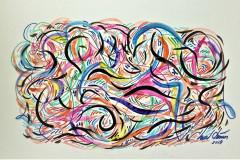 Bouscule-Mixed-media-on-board-20-in-x-14-in
